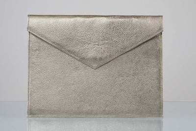 BY M.A.R.Y Accessories Metallic Silver Zahra Clutch - Metallic Silver