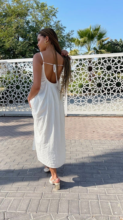 BY M.A.R.Y Barcelona Linen Dress