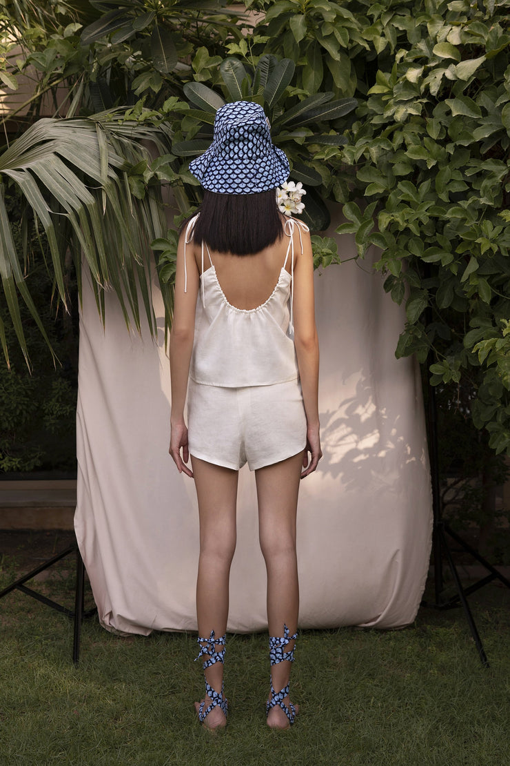 BY M.A.R.Y Bare-back Strapped Top - Off White