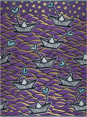 BY M.A.R.Y Fabric Ife Skirt / S/M Fabric - Purple Boats