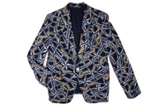 BY M.A.R.Y Leena Jacket - Dark Blue/Bronze