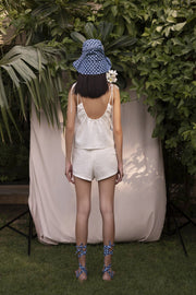 BY M.A.R.Y Linen Classic Shorts - Off-White
