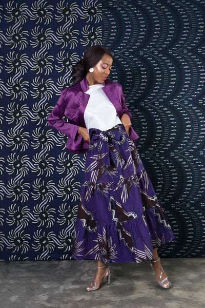 BY M.A.R.Y Long Ruffles Skirt - Purple