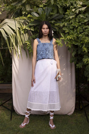 BY M.A.R.Y Long Wrapped Skirt - White