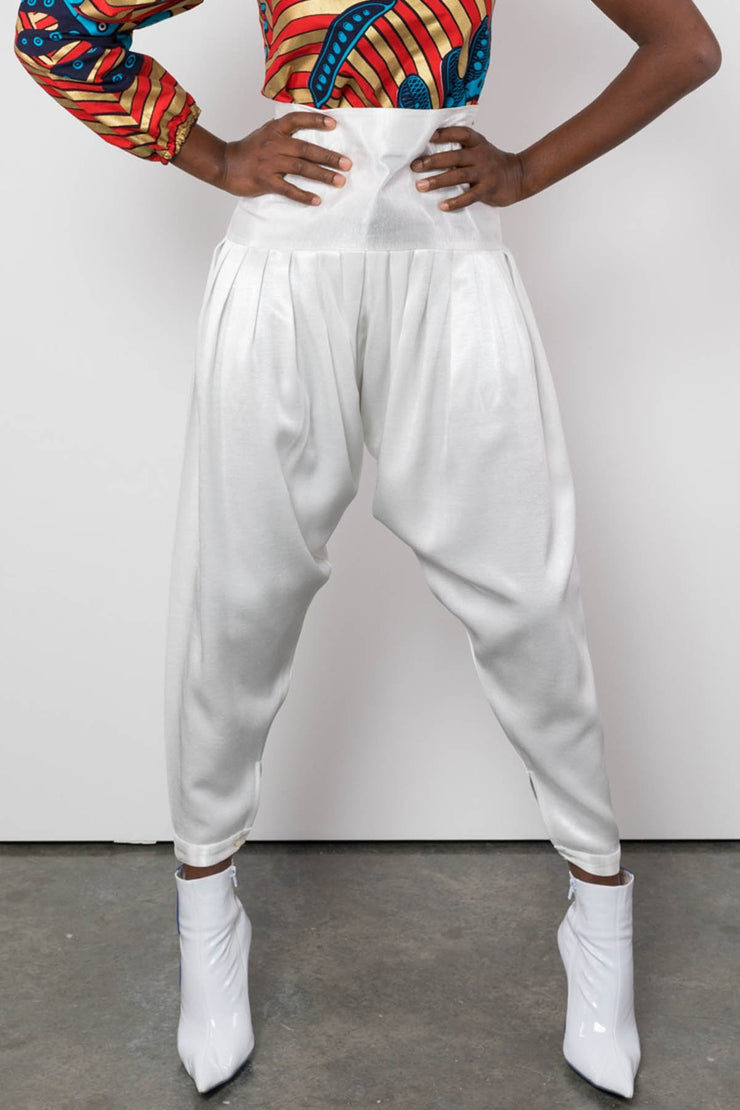 BY M.A.R.Y S Femi Pants - White