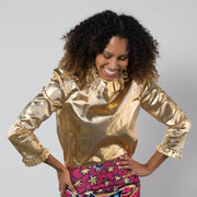 BY M.A.R.Y S/M Blessing Top - Metallic Gold