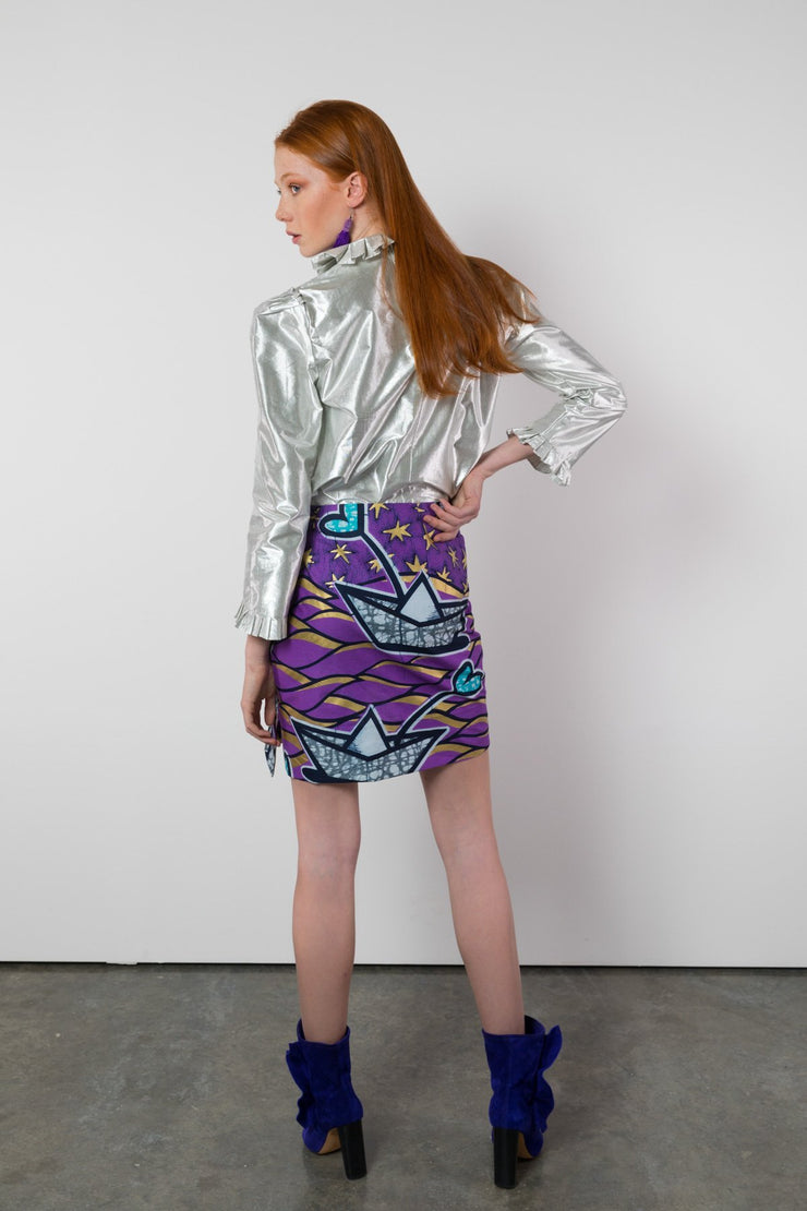 BY M.A.R.Y S/M Blessing Top - Metallic Silver
