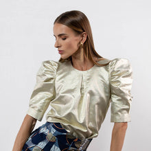 Load image into Gallery viewer, BY M.A.R.Y S/M Elaine Top - Metallic Gold
