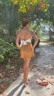 BY M.A.R.Y S/M / Gingerbread Assinie Short Linen