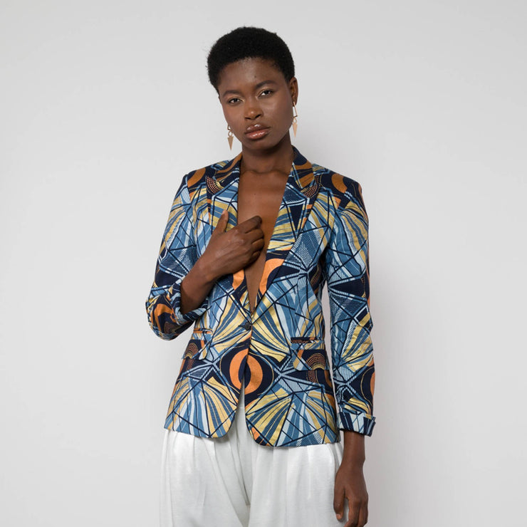 BY M.A.R.Y S/M Leena Jacket - Light Blue/Bronze
