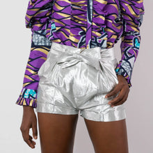 Load image into Gallery viewer, BY M.A.R.Y S/M Nubia Shorts - Metallic Silver