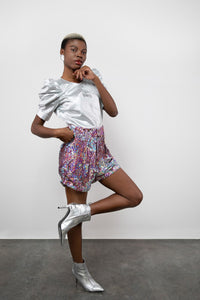 BY M.A.R.Y S/M Sachi Shorts - Pink sequins