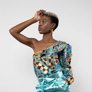 BY M.A.R.Y S/M Zawadi Top - Turquoise/Gold Coral