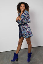 Load image into Gallery viewer, BY M.A.R.Y S/M Zuri Dress - Blue/Metallic Purple