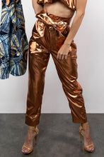 Load image into Gallery viewer, BY M.A.R.Y S Nala Pants - Metallic Bronze