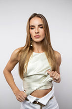 Load image into Gallery viewer, BY M.A.R.Y S Zaina Crop Top - Metallic Gold