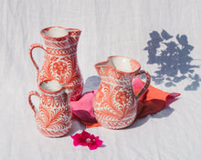 Load image into Gallery viewer, Casa Coral SMALL pitcher with hand painted designs