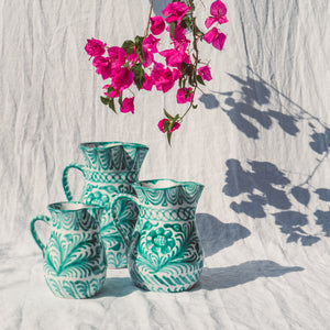 Casa Verde MEDIUM pitcher with hand painted designs