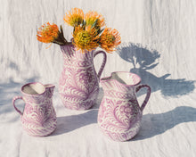 Load image into Gallery viewer, Casa Lila SMALL pitcher with hand painted designs