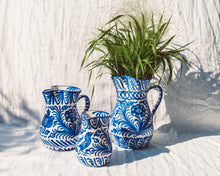 Load image into Gallery viewer, Casa Azul LARGE pitcher with hand painted designs