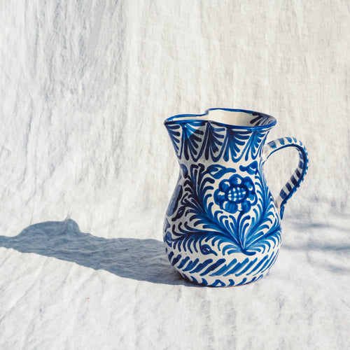 Casa Azul MEDIUM pitcher with hand painted designs