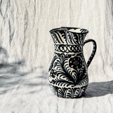 Load image into Gallery viewer, Large pitcher with hand painted designs