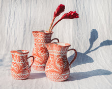 Load image into Gallery viewer, Casa Coral LARGE pitcher with hand painted designs