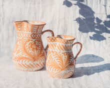 Load image into Gallery viewer, Casa Melocoton MEDIUM pitcher with hand painted designs