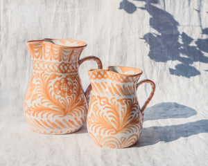 Casa Melocoton MEDIUM pitcher with hand painted designs