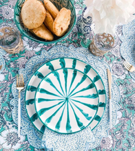 Load image into Gallery viewer, Casa Verde DINNER plate with candy cane stripes