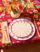 Load image into Gallery viewer, Casa Lila DINNER plate with candy cane stripes