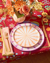 Load image into Gallery viewer, Casa Melocoton SALAD plate with candy cane stripes