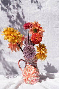 Casa Coral LARGE pitcher with hand painted designs