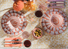 Load image into Gallery viewer, Casa Coral SALAD plate with candy cane stripes