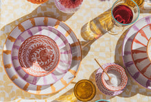 Load image into Gallery viewer, Casa Lila SALAD plate with candy cane stripes