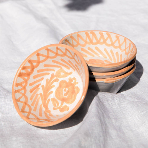 Casa Melocoton MINI bowl with hand painted designs