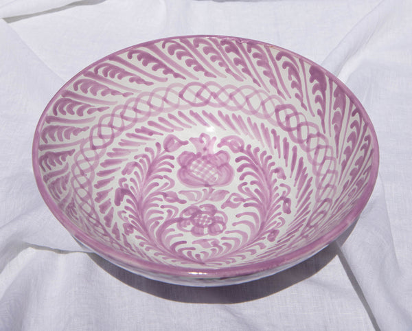 Large  bowl with hand painted designs