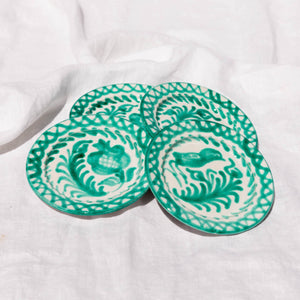 Casa Verde MINI plate with hand painted designs