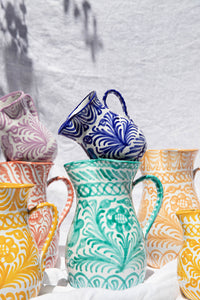Casa Verde LARGE pitcher with hand painted designs