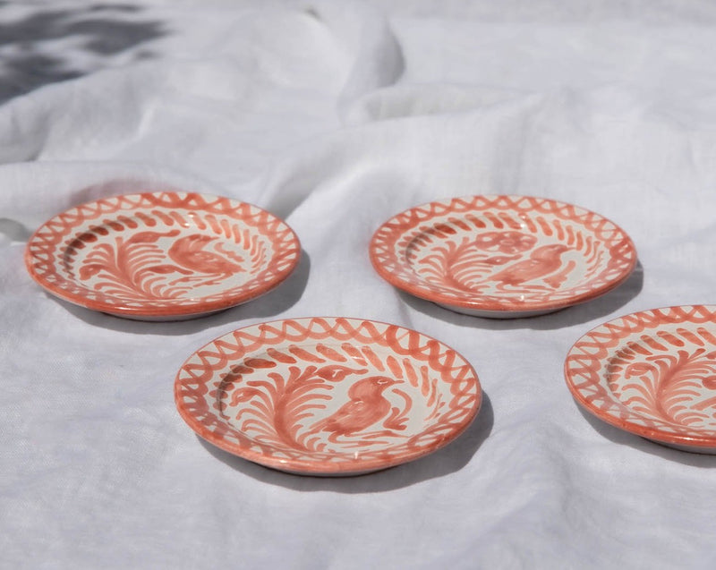 MINI plate with hand painted designs
