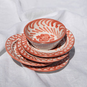 Casa Coral MINI plate with hand painted designs