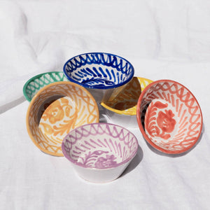 Casa Coral MINI bowl with hand painted designs