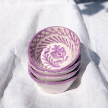 Load image into Gallery viewer, Casa Lila MINI bowl with hand painted designs
