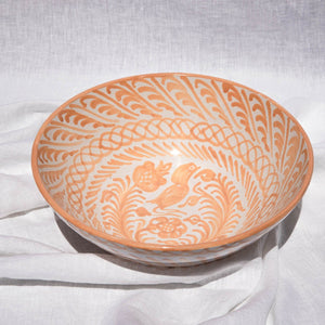 Casa Melocoton LARGE bowl with hand painted designs