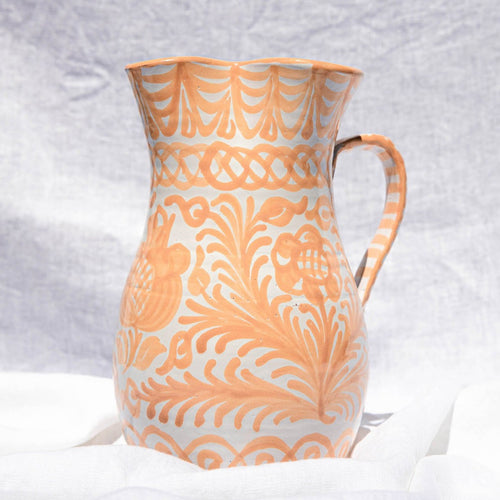 Casa Melocoton LARGE pitcher with hand painted designs