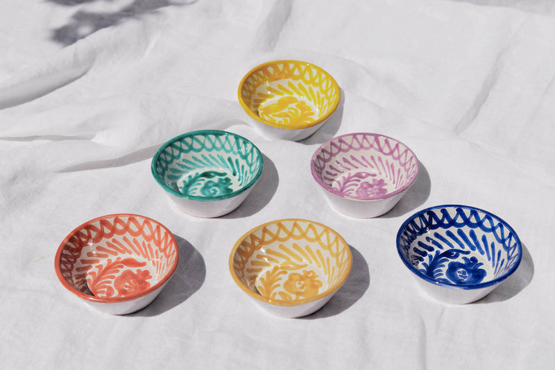 MINI bowl with hand painted designs
