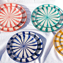 Load image into Gallery viewer, Casa Azul SALAD plate with candy cane stripes