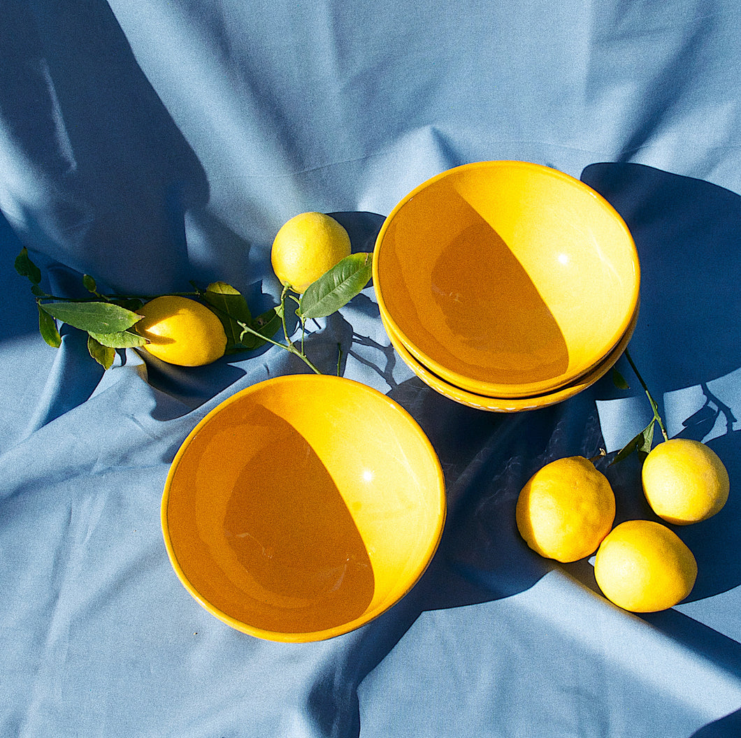 MEDIUM bowl with yellow glaze - Pomelo casa