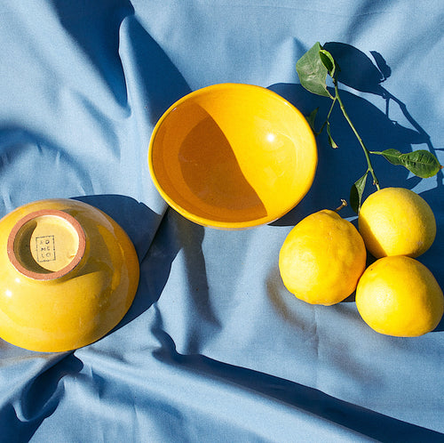 SMALL bowl with yellow glaze - Pomelo casa