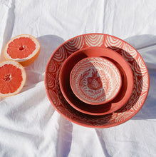 Load image into Gallery viewer, LARGE bowl with hand painted designs - Pomelo casa
